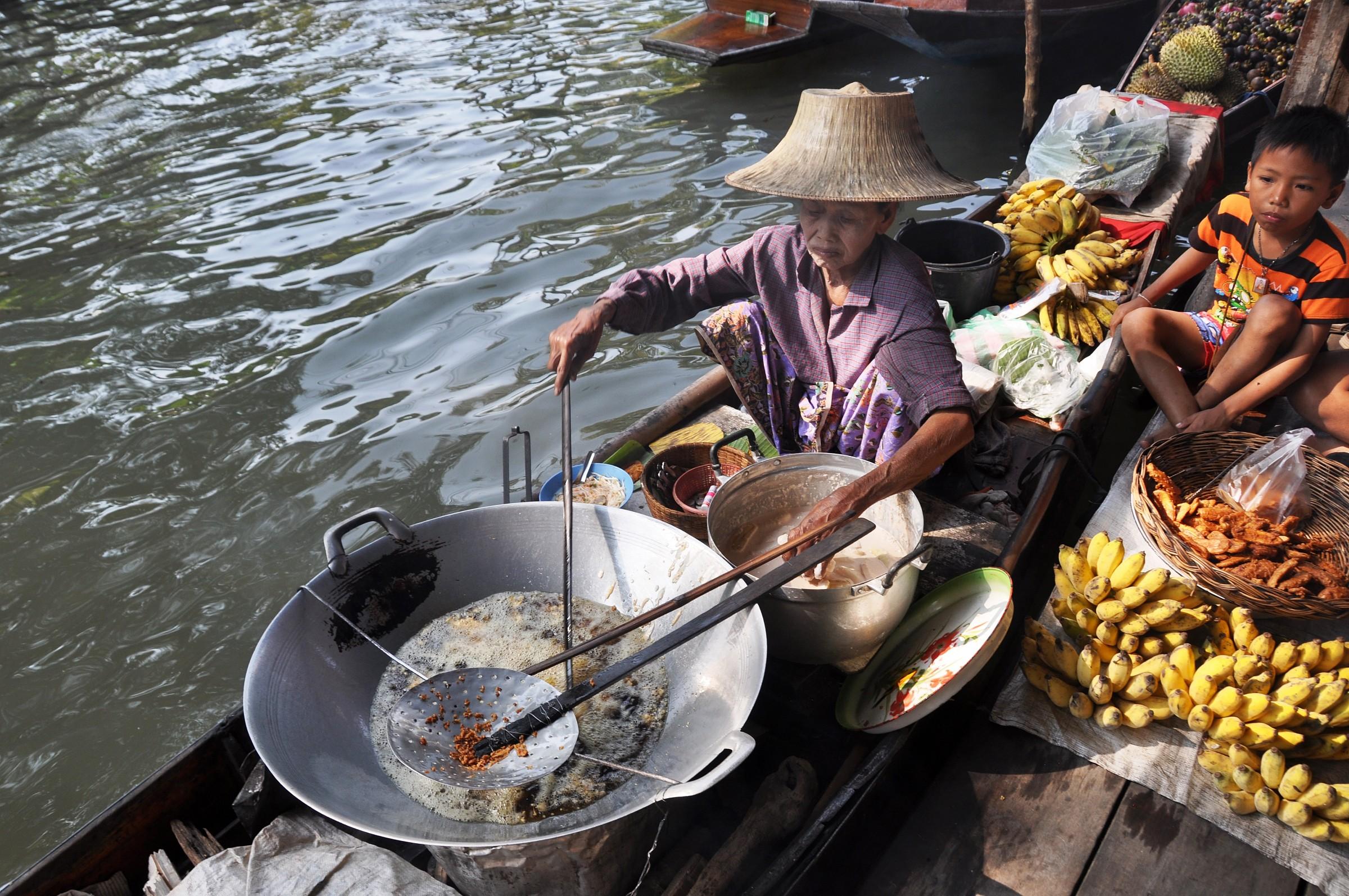 Bangkok mercato galleggiante...