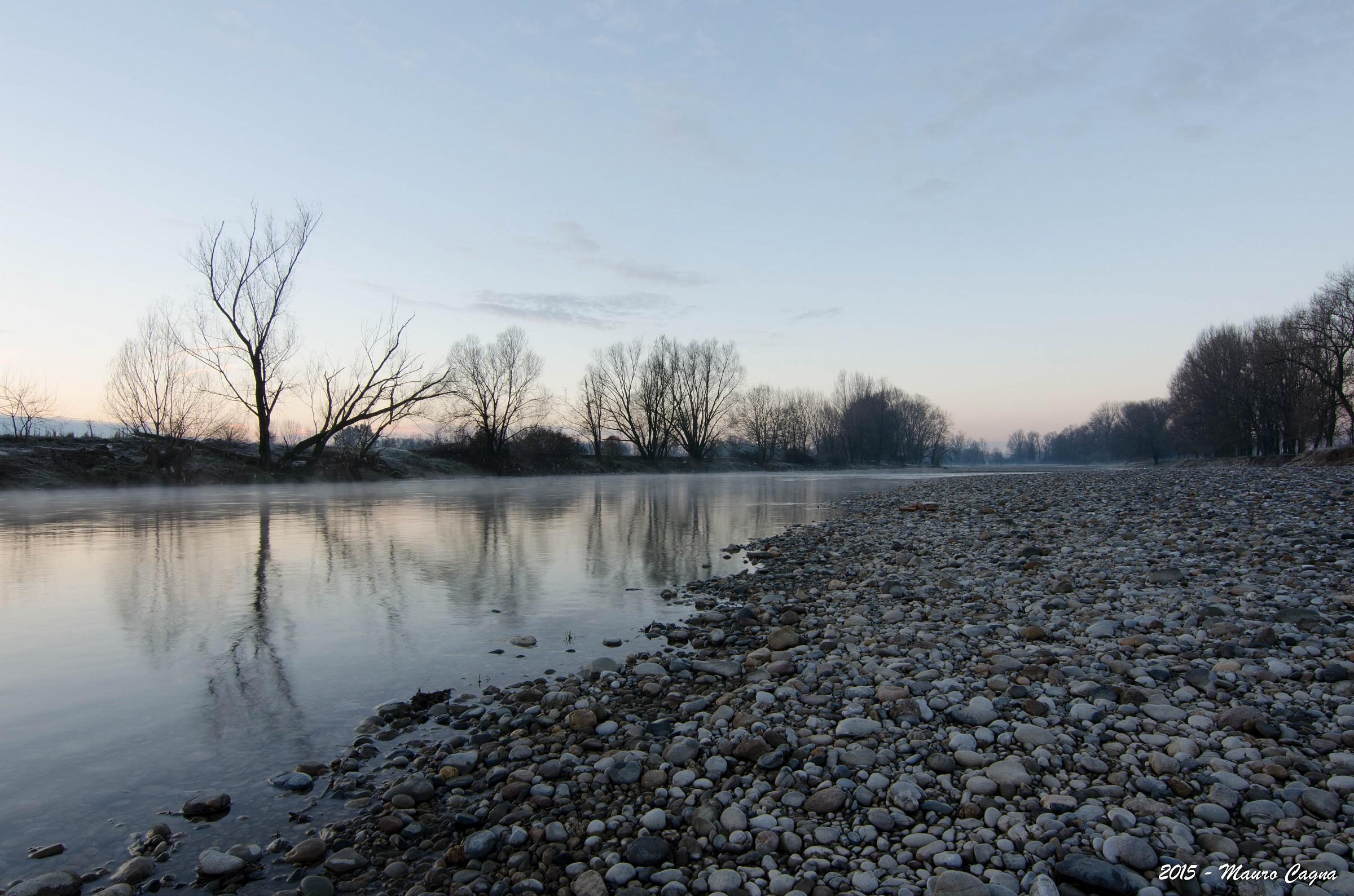Alba sul fiume Serio #1...
