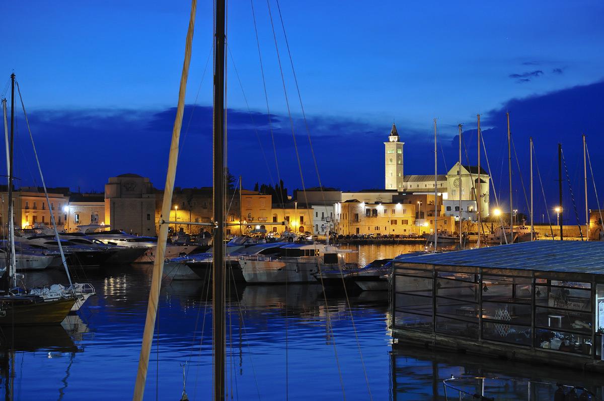 Trani's harbor at sunset...