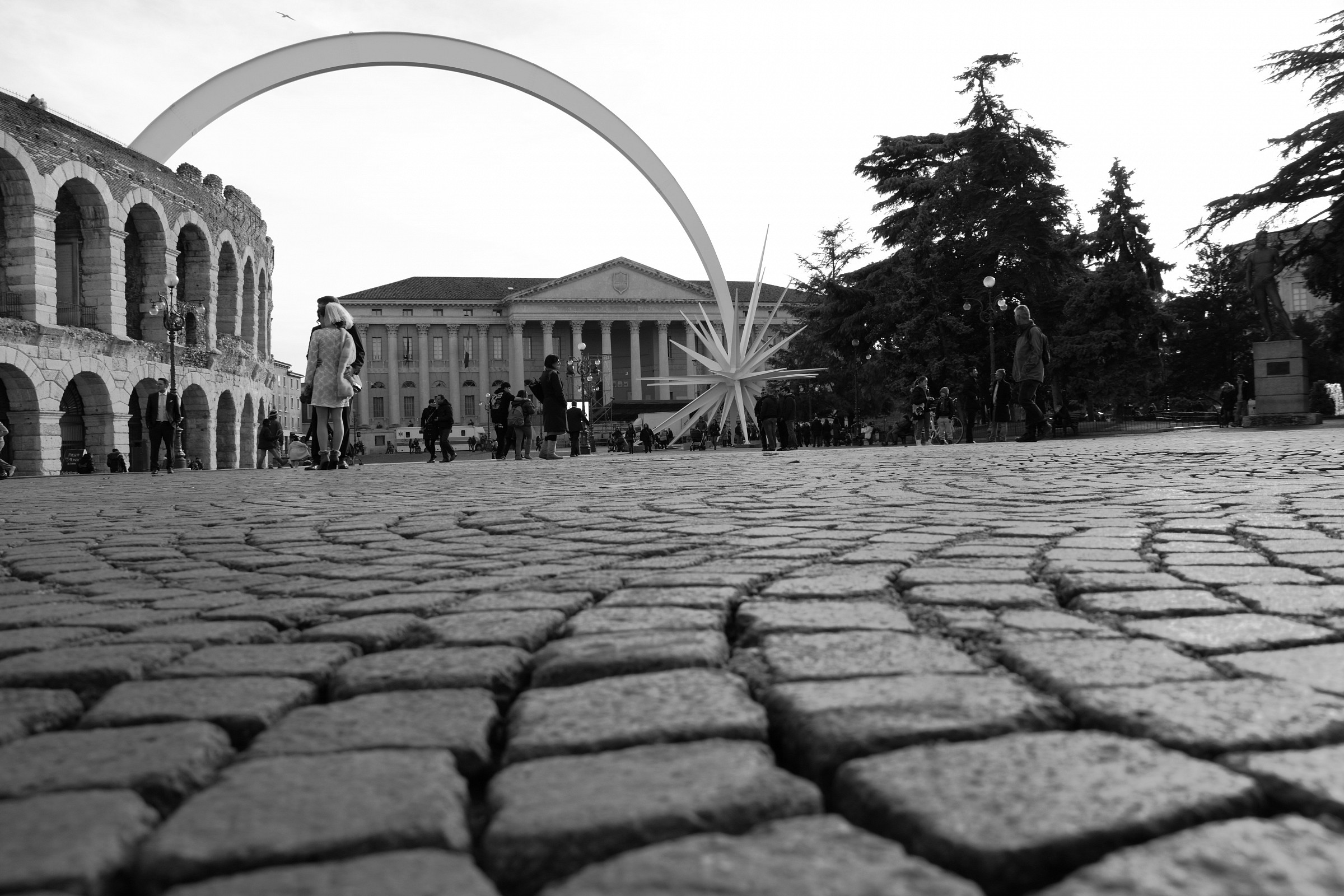 Piazza Bra e l'Arena...