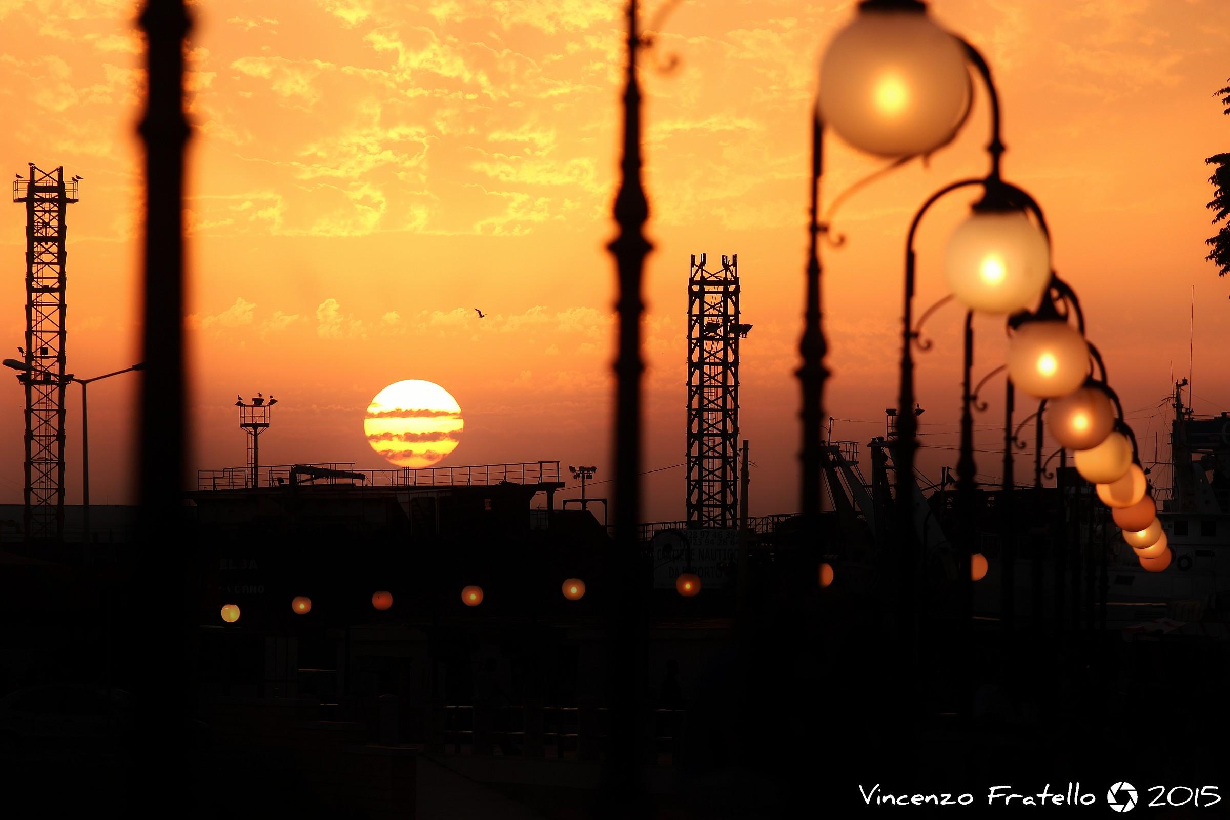 Mazara del Vallo al tramonto....