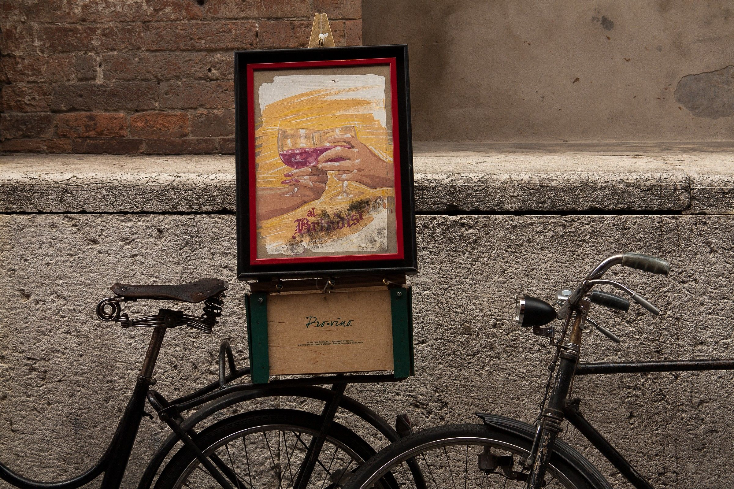 The streets of Ferrara...