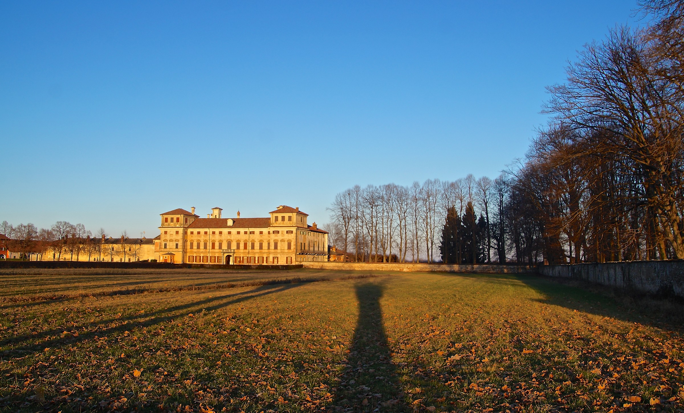 """The long shadows of the evening lapping the """"Palazzasso""""..."""