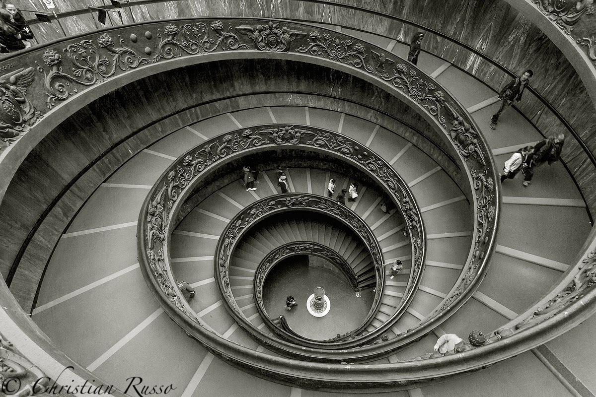 Spiral staircase -Museums Vaticani-...