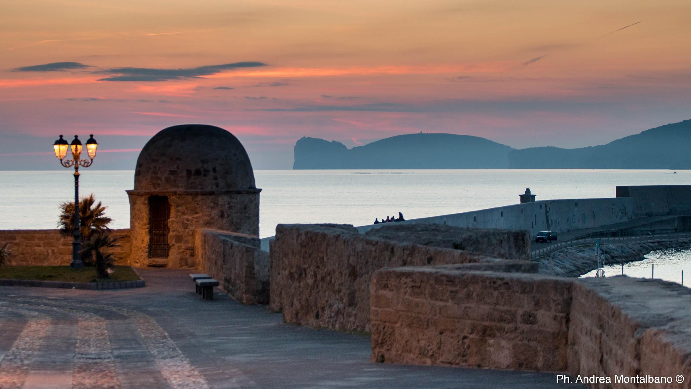 Alghero old after sunset...