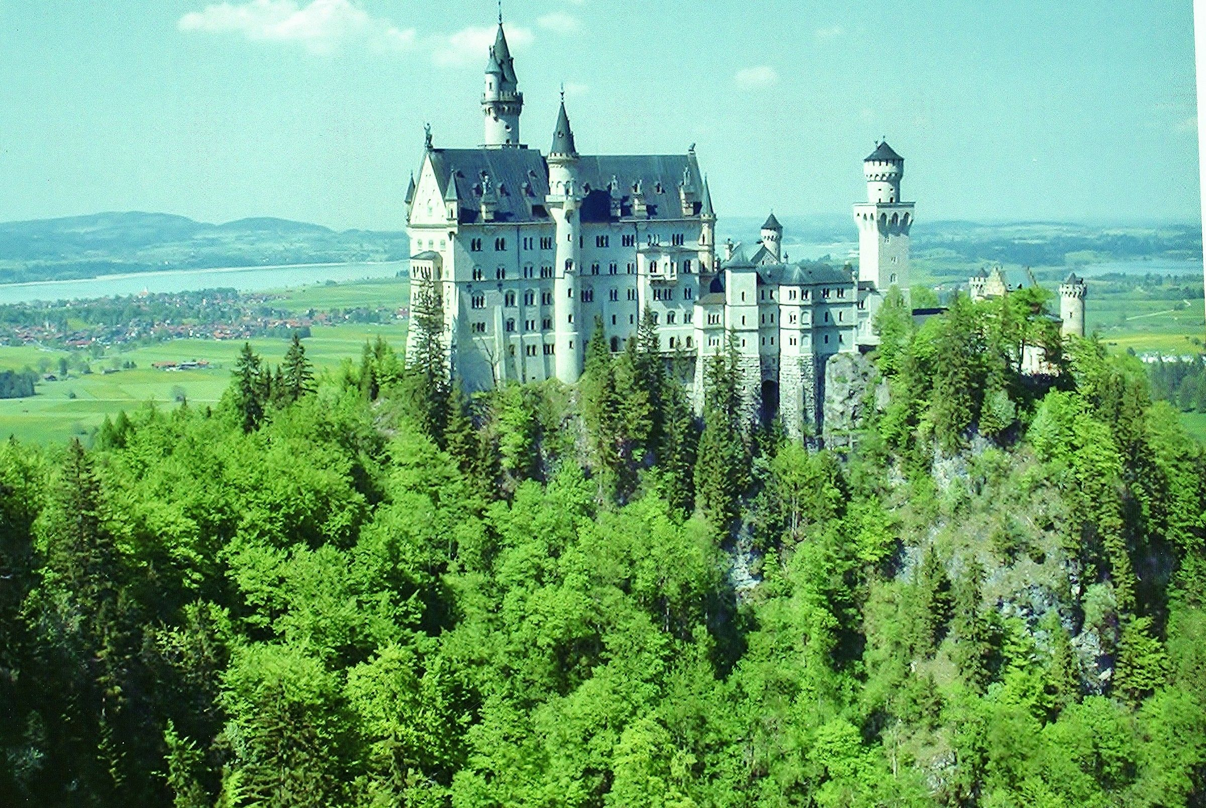 Neuschwanstein Castle. Monaco of Bavaria...