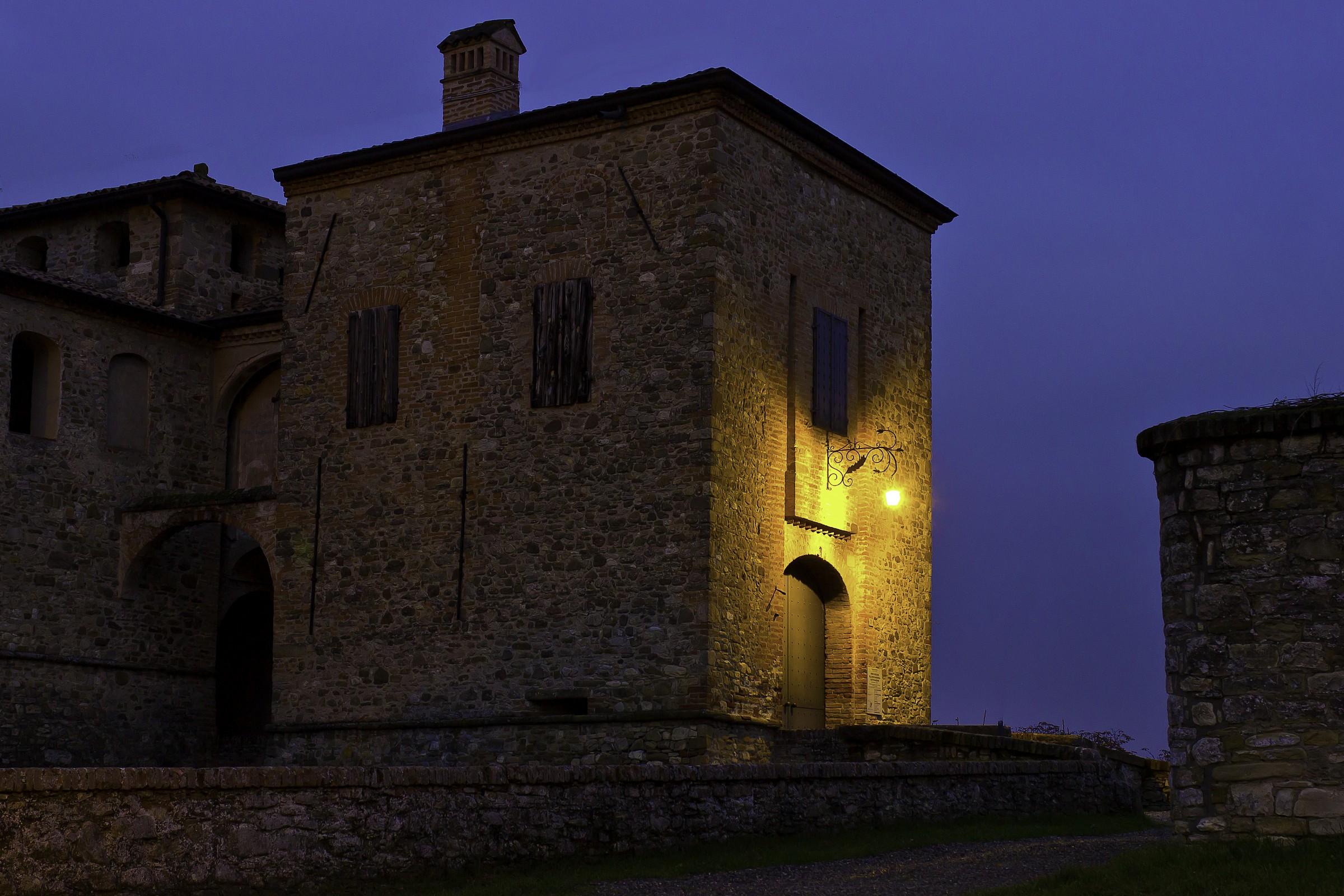 Castle Agazzano at dusk...