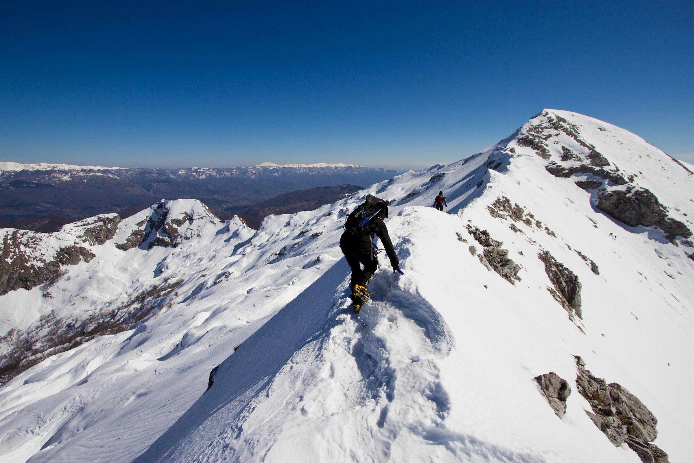 Cresta Nord del monte Tambura, Alpi Apuane...