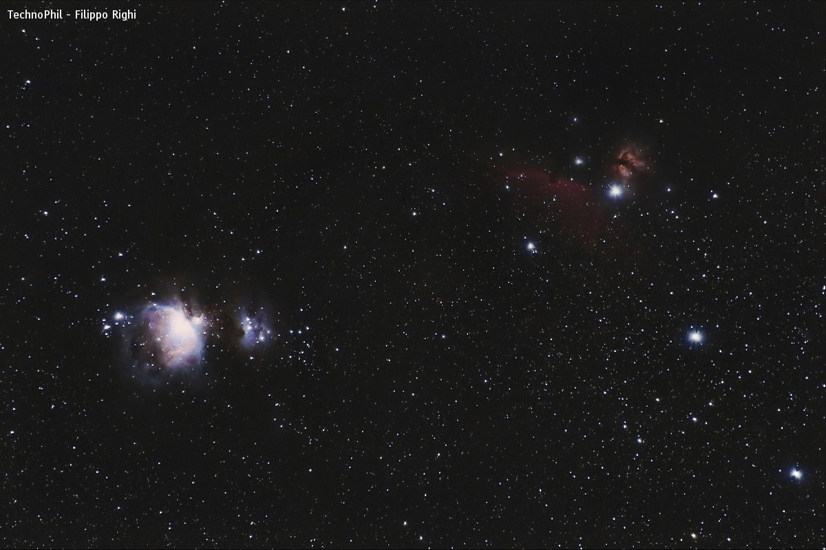 Union of shots: Orion, Flame and Horse....