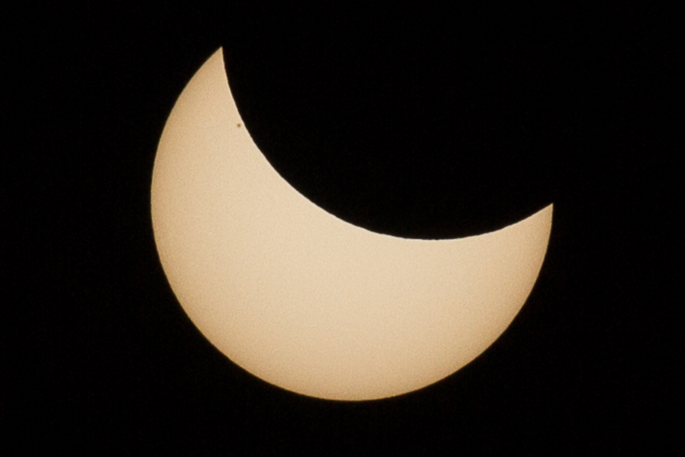 Eclipse of March 20, view from Rome...
