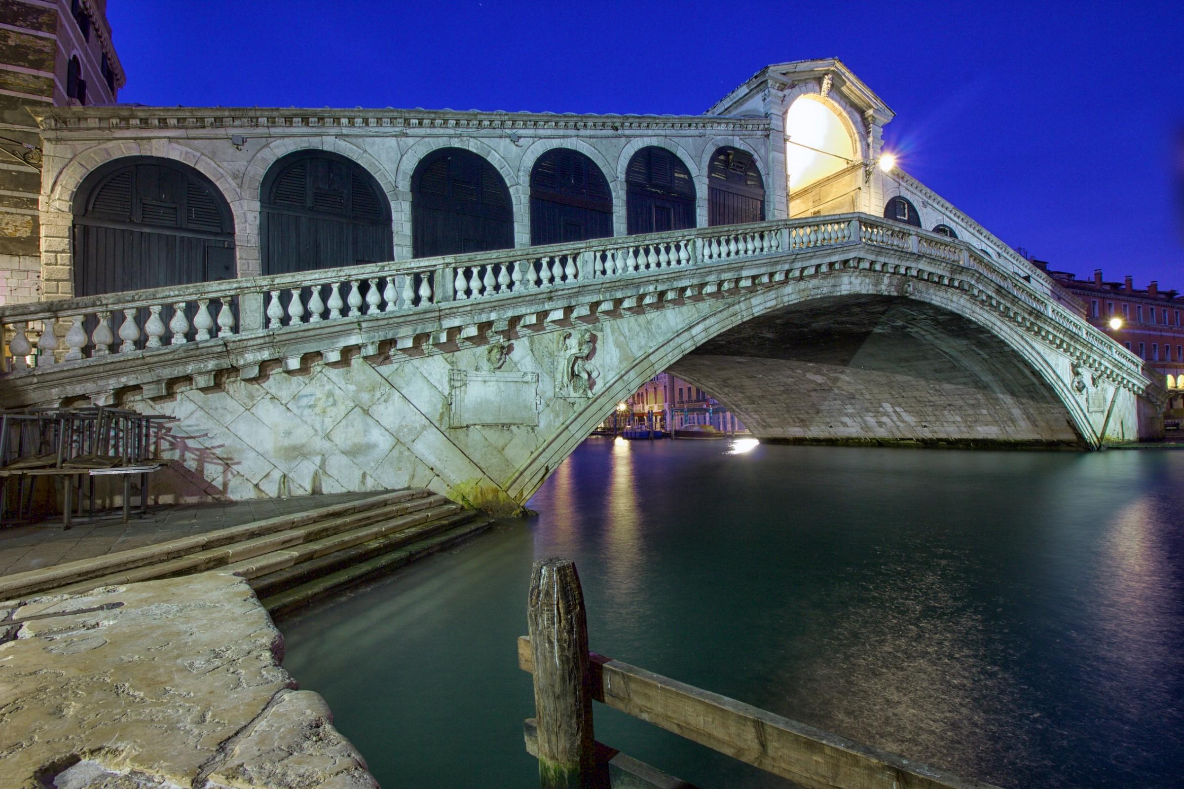 Now Blue Rialto Bridge...