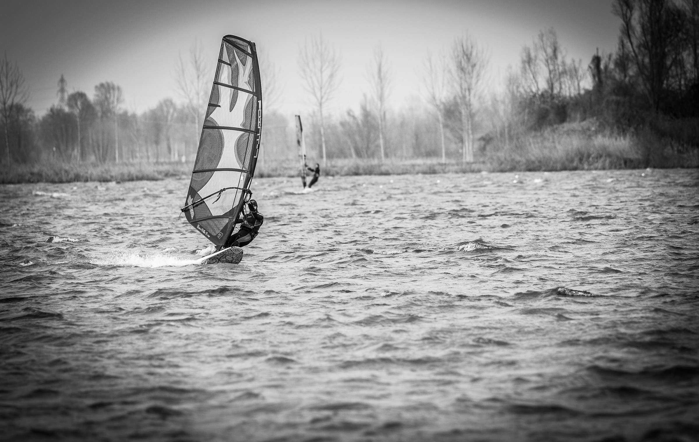 Windsurfing on Lake Mantova...