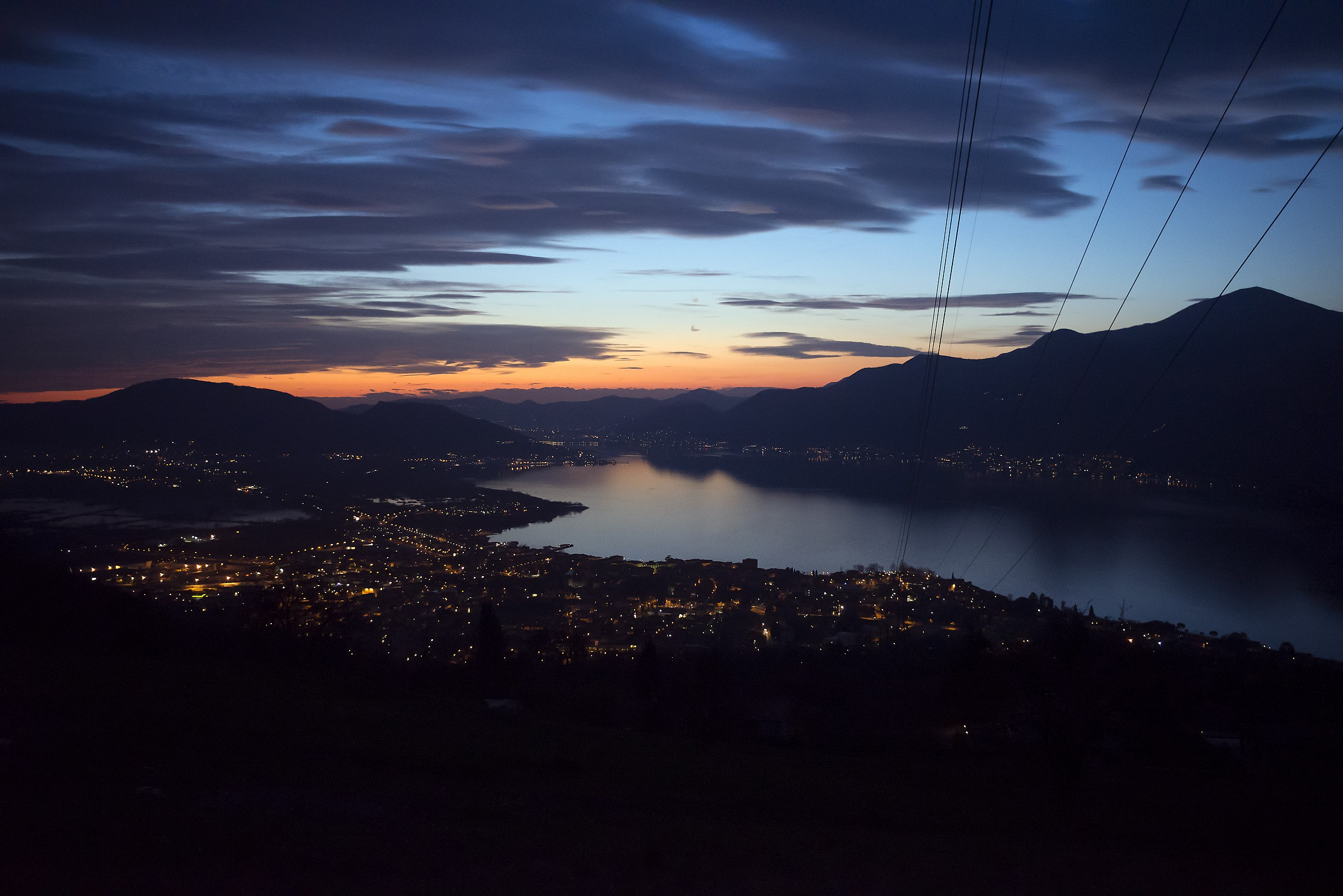 Le luci del lago d'Iseo...