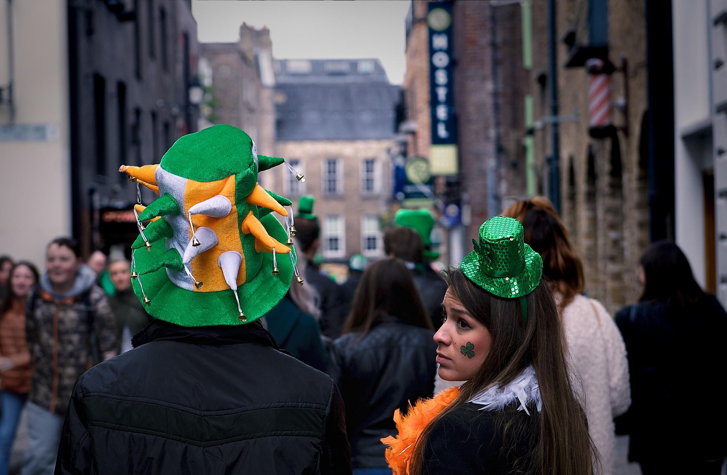 Cappelli verdi a Dublino...