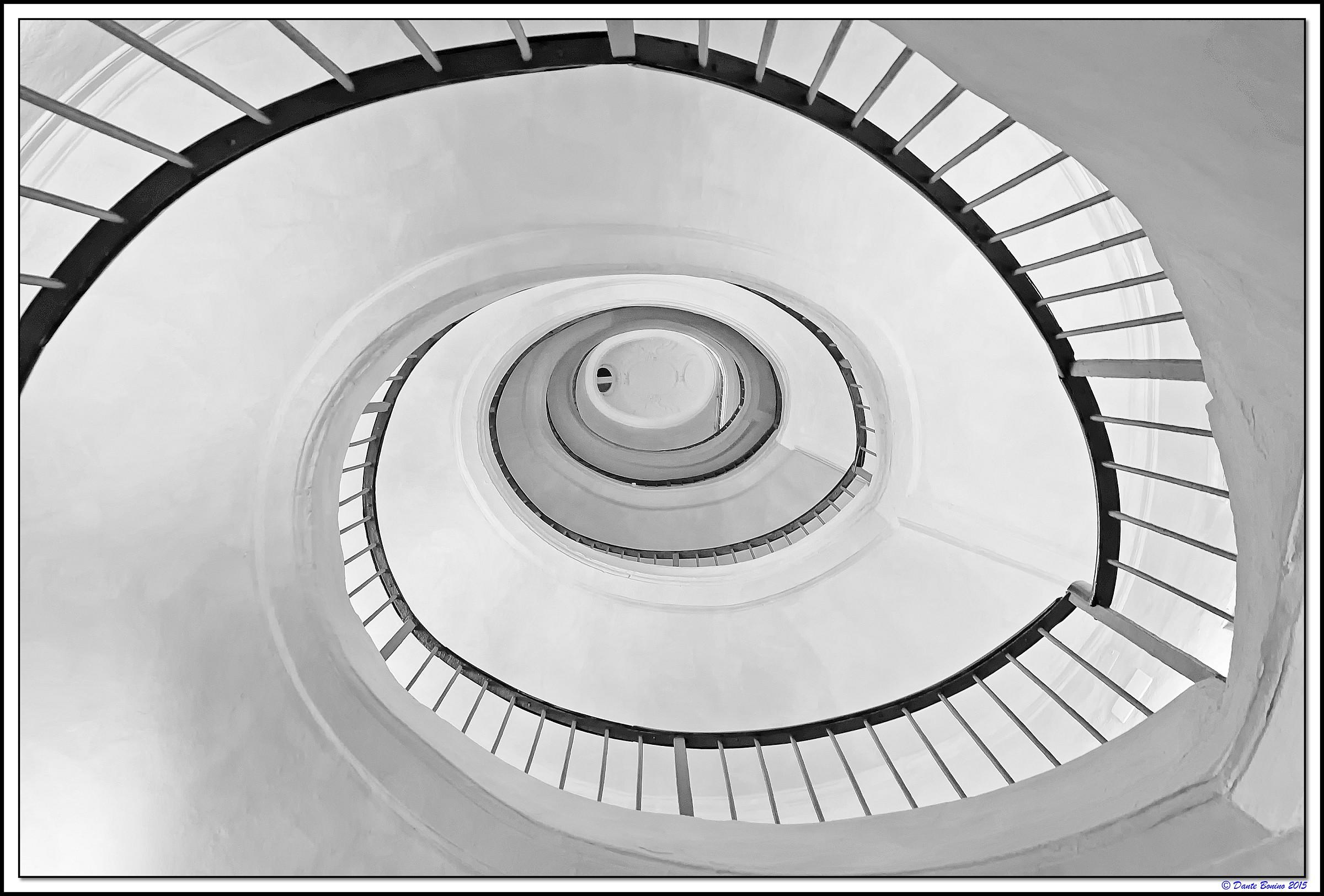 Palazzo Carignano: Scale of elliptical culverts...
