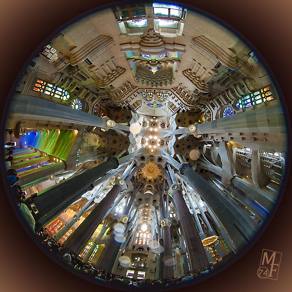 Sagrada Familia fisheye...