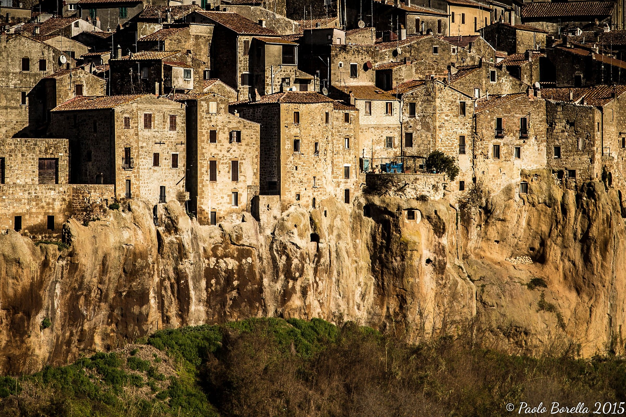 The houses on the tuff Pitigliano...