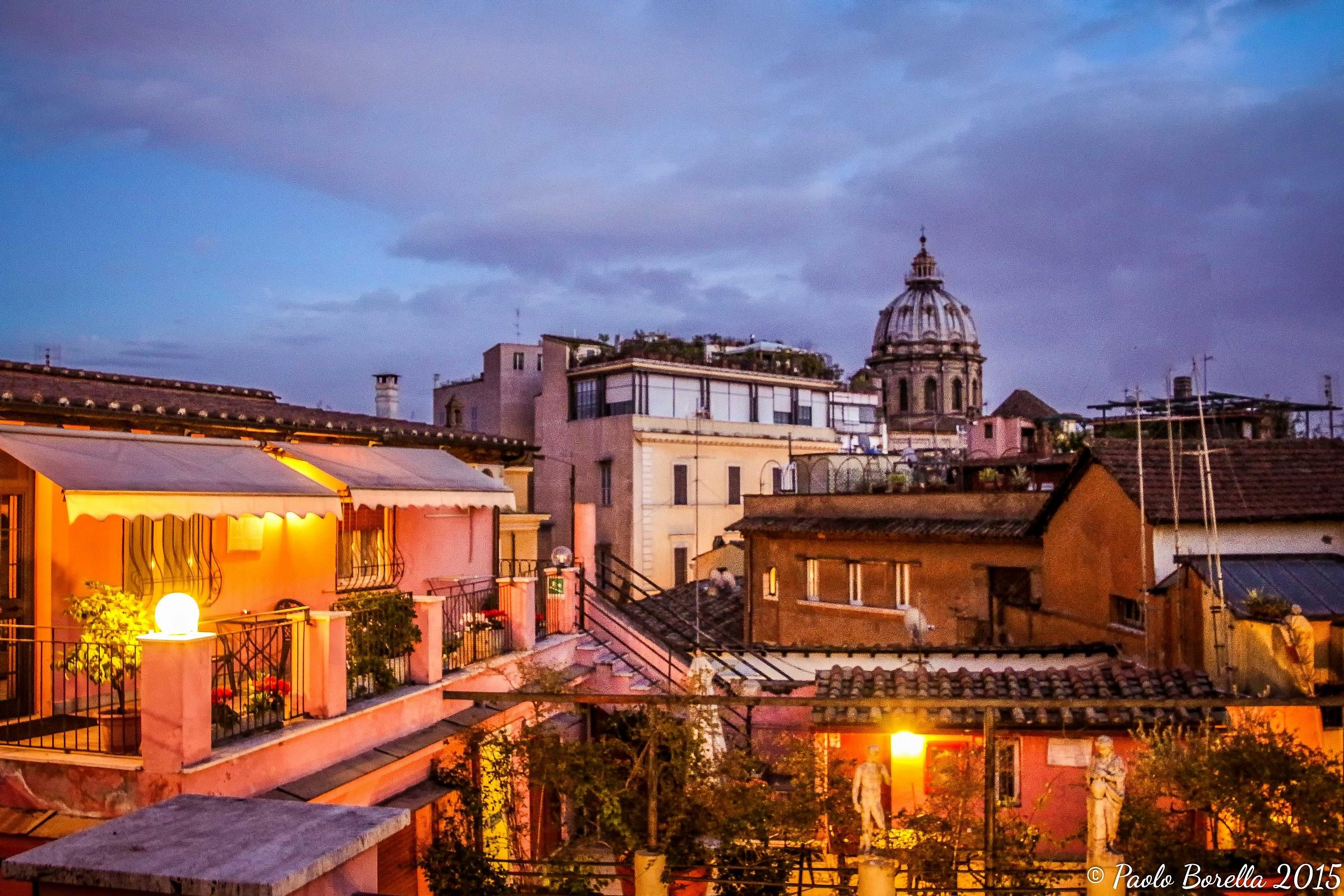Rome blue hour...