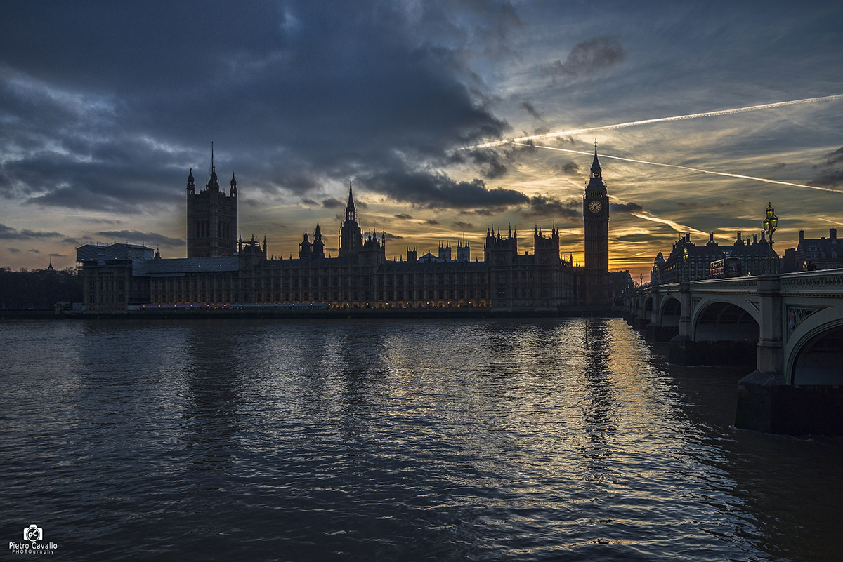 sunset on Big Ben...