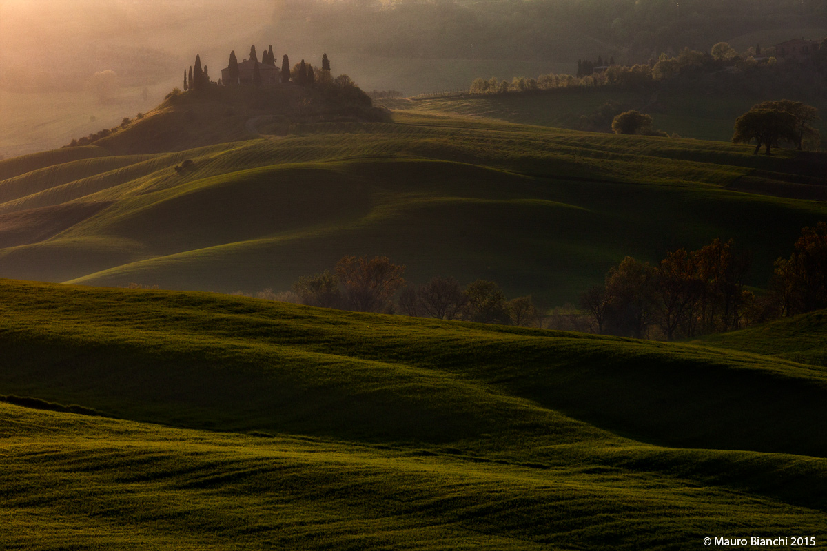Val d'Orcia at sunset...