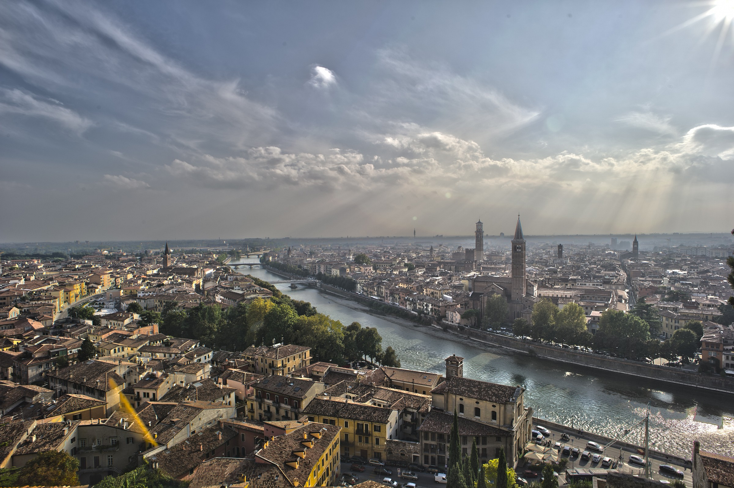 View from Castel San Pietro (vr)...
