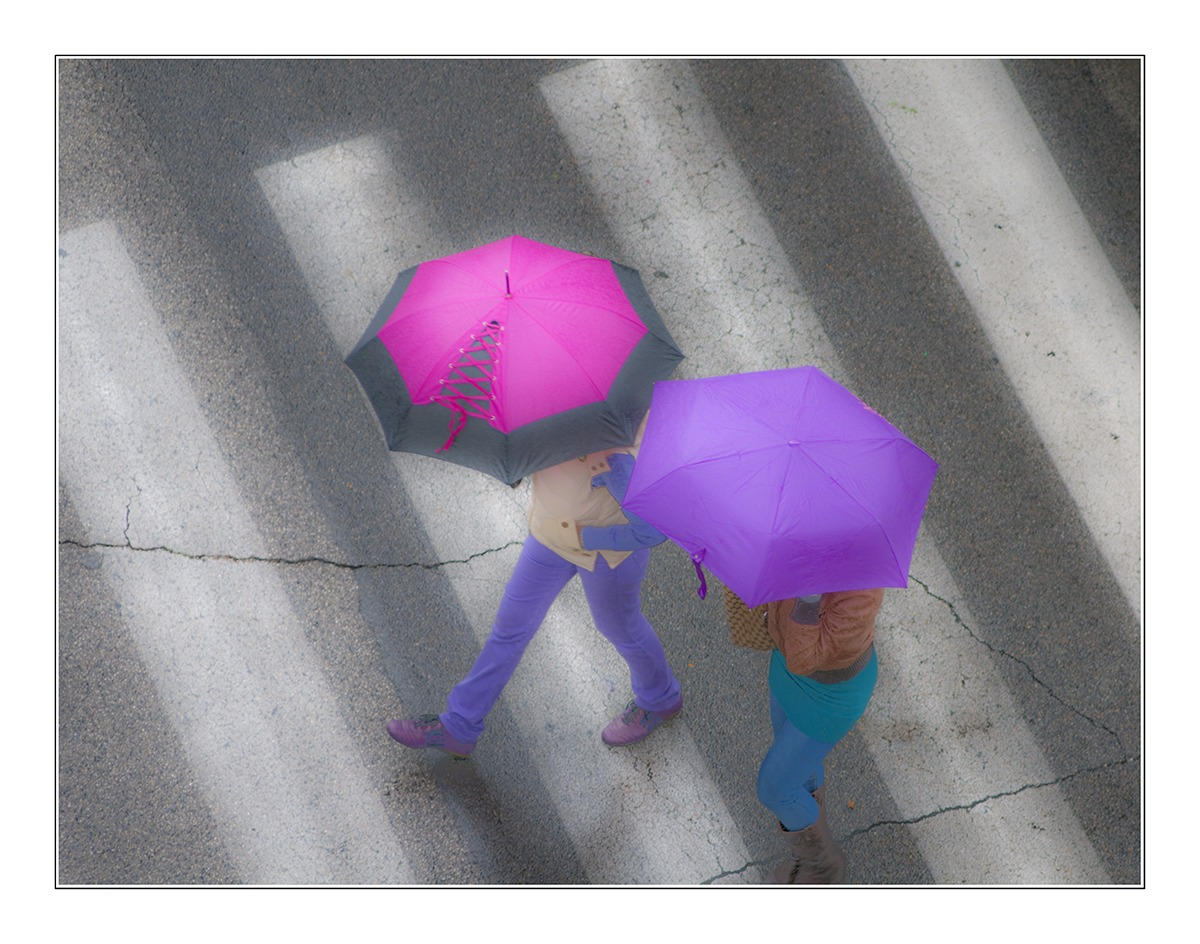 Under the rain...