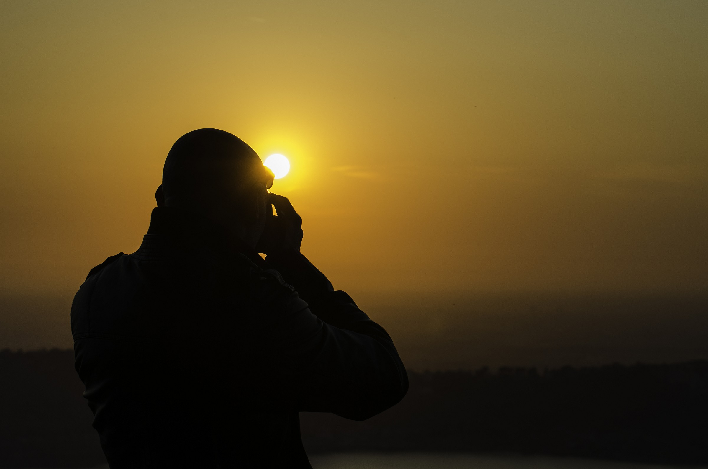 Photographs at sunset......