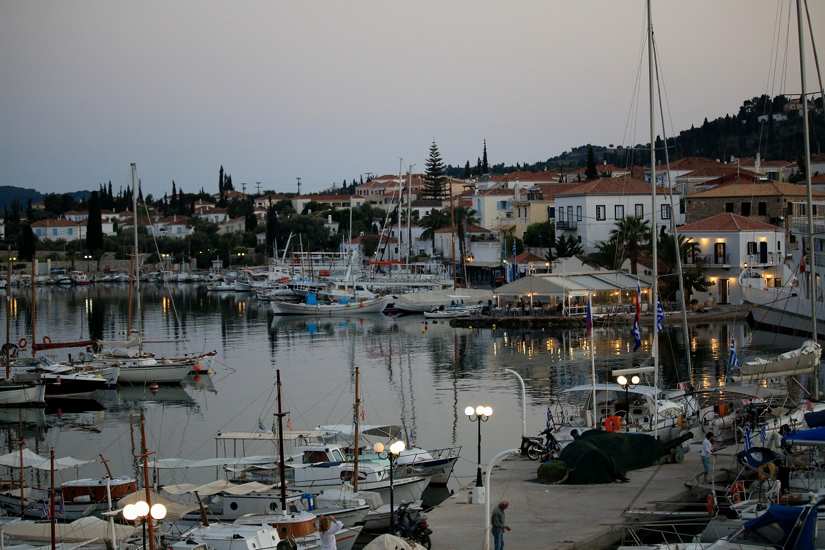 The old harbor at dusk...