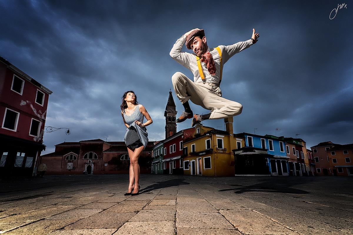 Jumping dance...