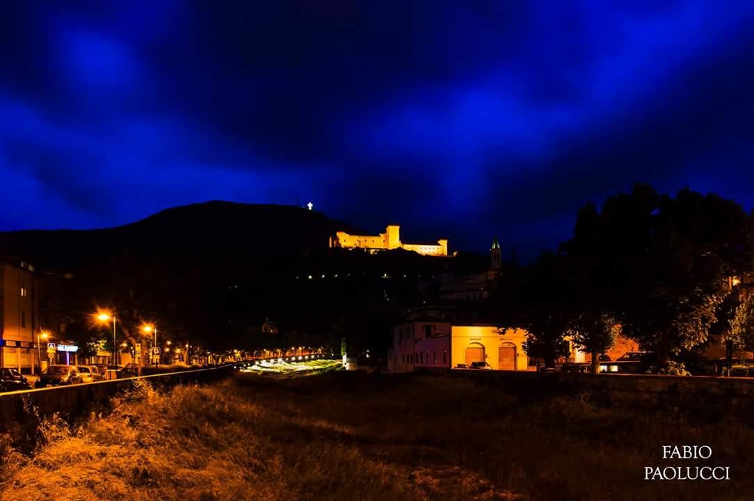 A glimpse of the night Spoleto...