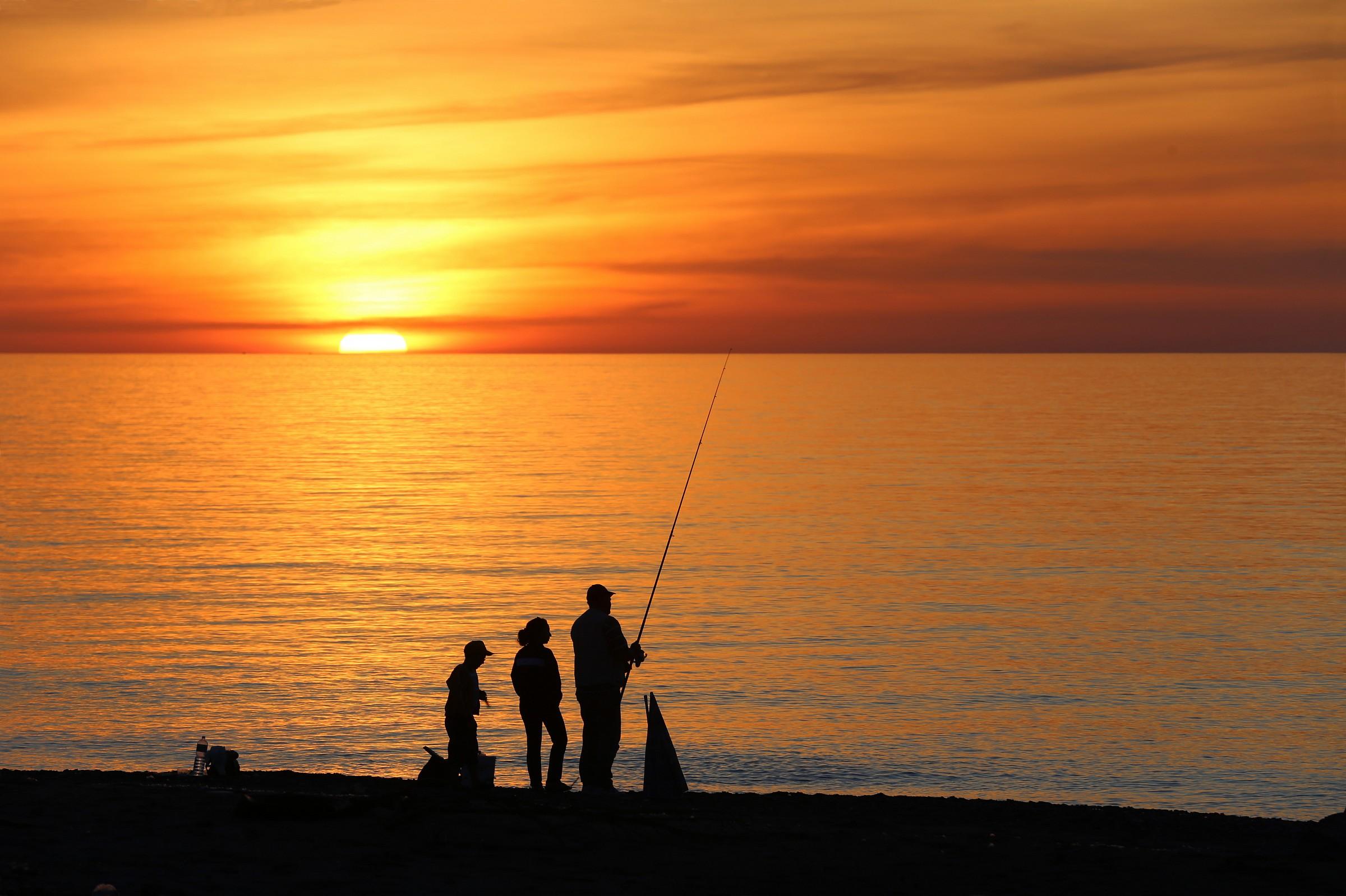 Family fishing...