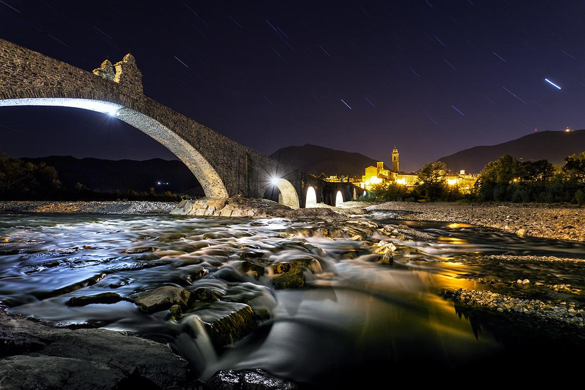 Falling stars on the Ponte Gobbo...