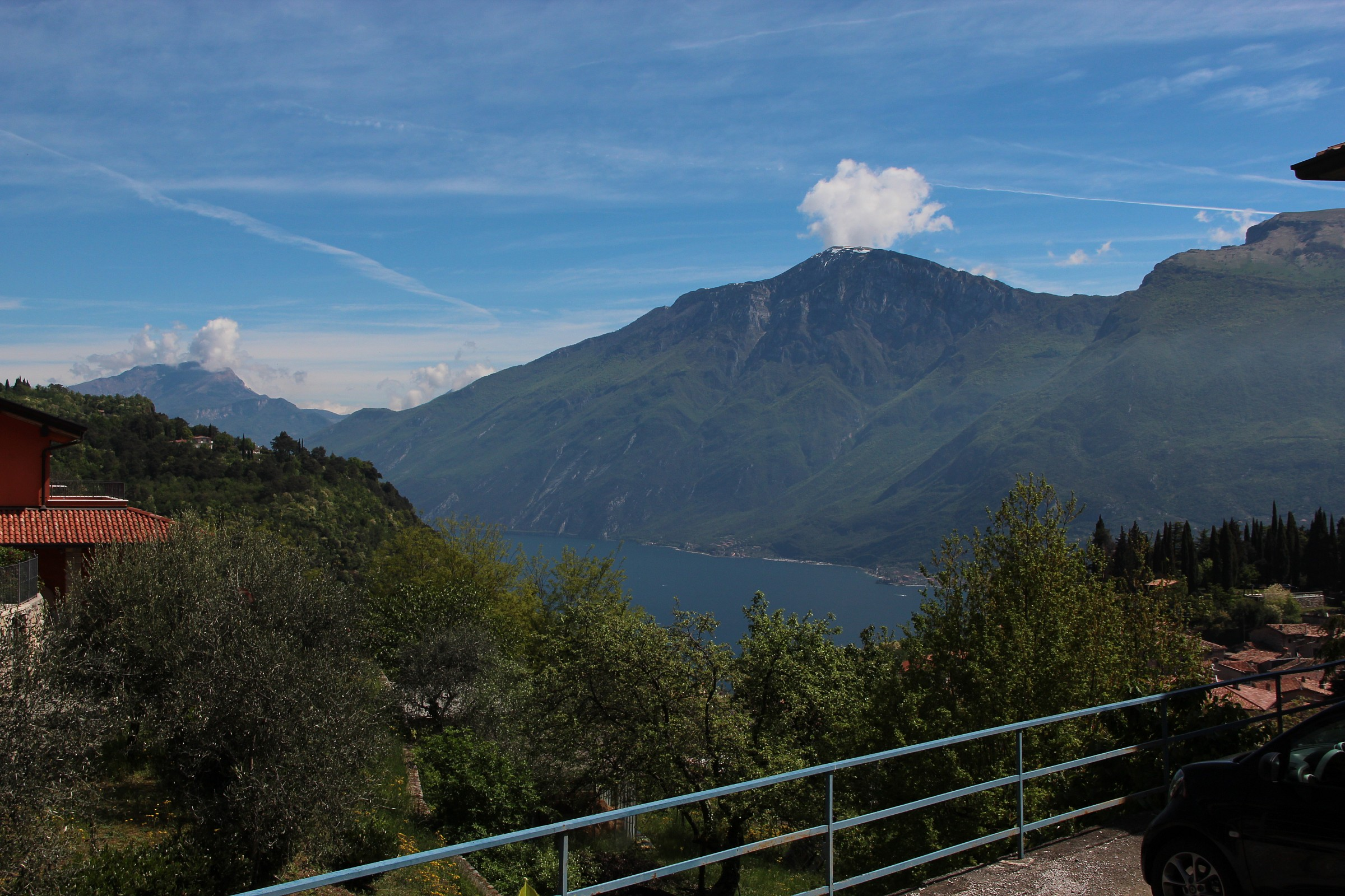 Lake Garda from the terrace of the thrill...