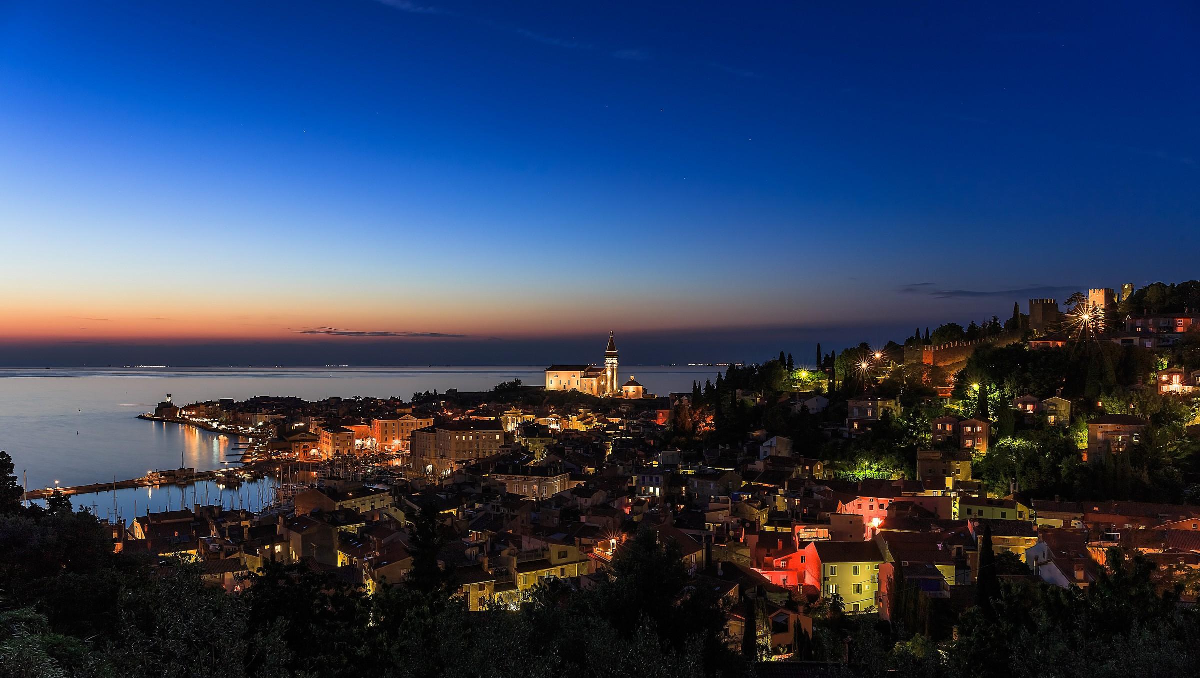 panoramica di Pirano...