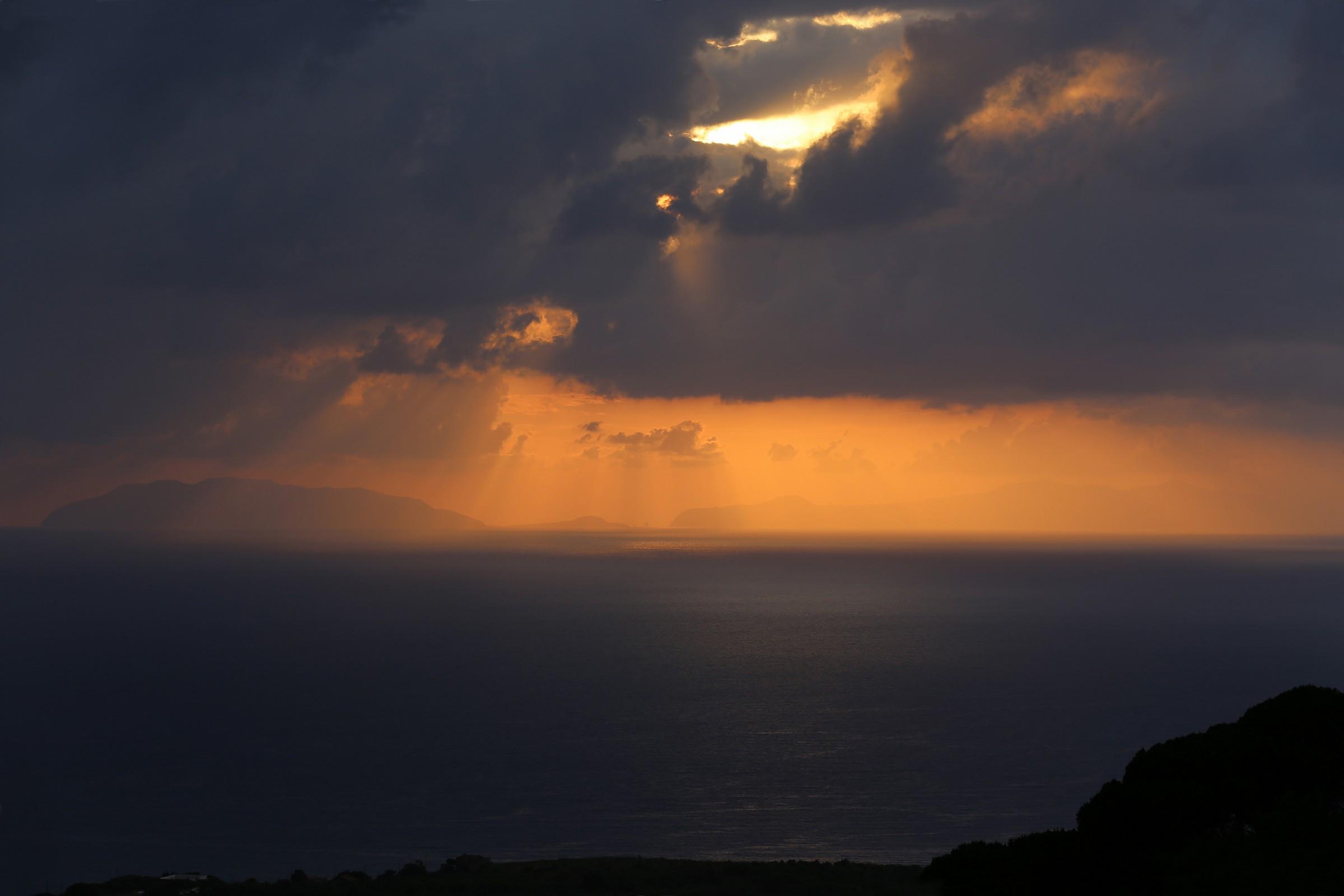 golden rain on the Aeolian islands...