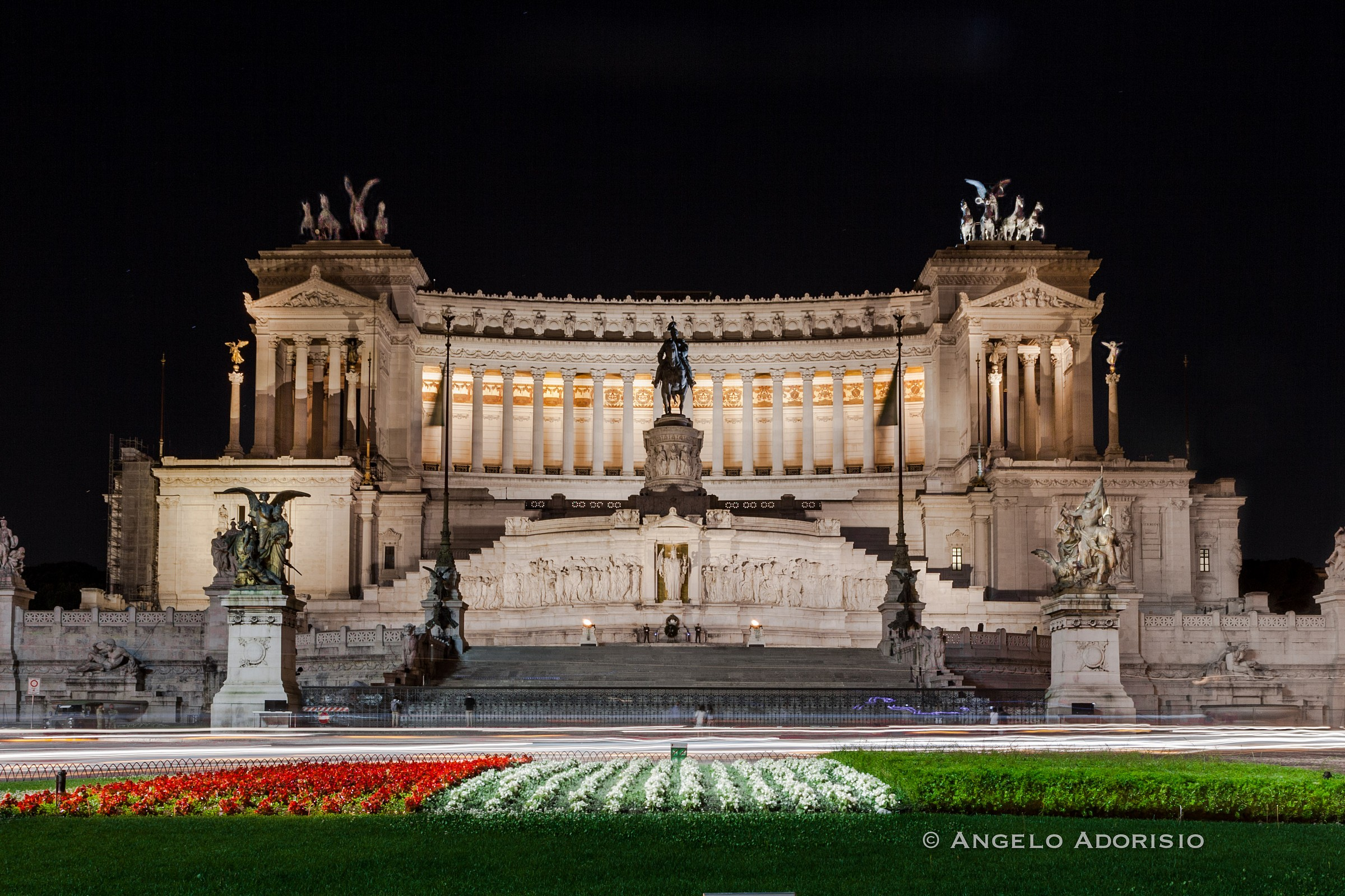 Rome - Altar of the Fatherland and tricolor...