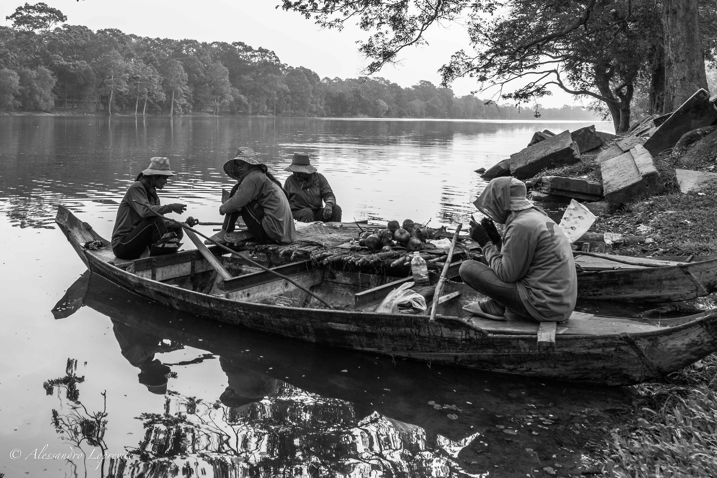 Fishermen at Ankor Wat...