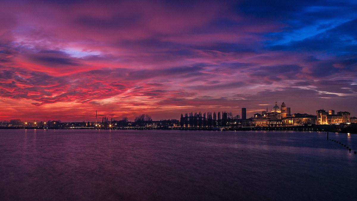 Mantova at sunset...
