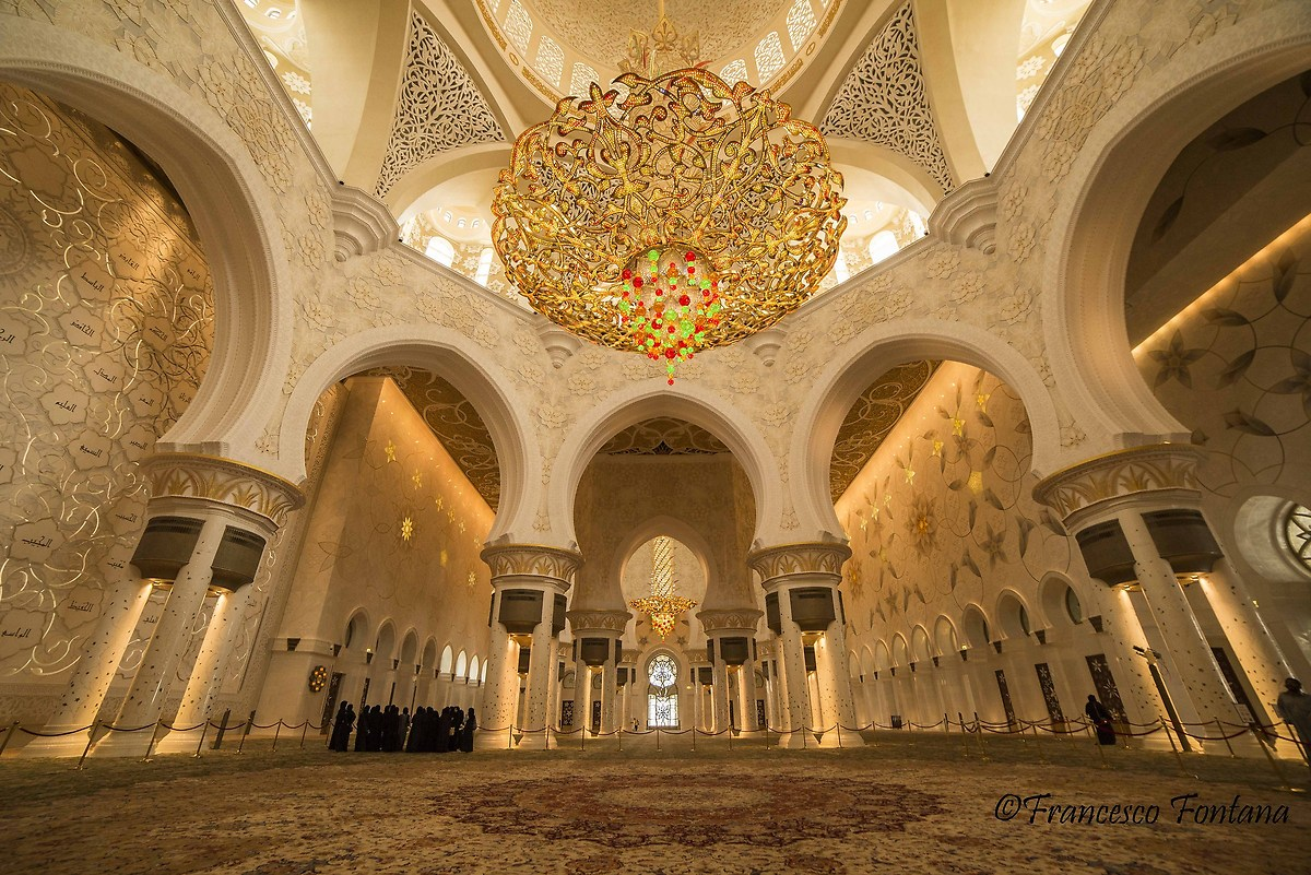 Interno Della Sheikh Zayed Grand Mosque Juzaphoto