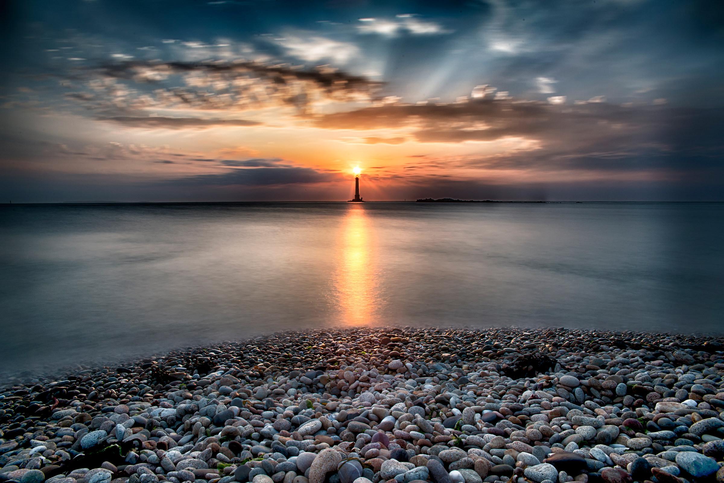 sun & lighthouse...