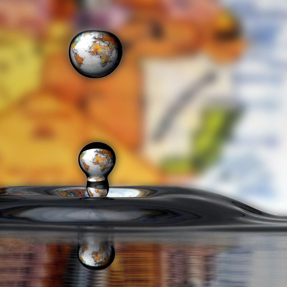 world in the drops...