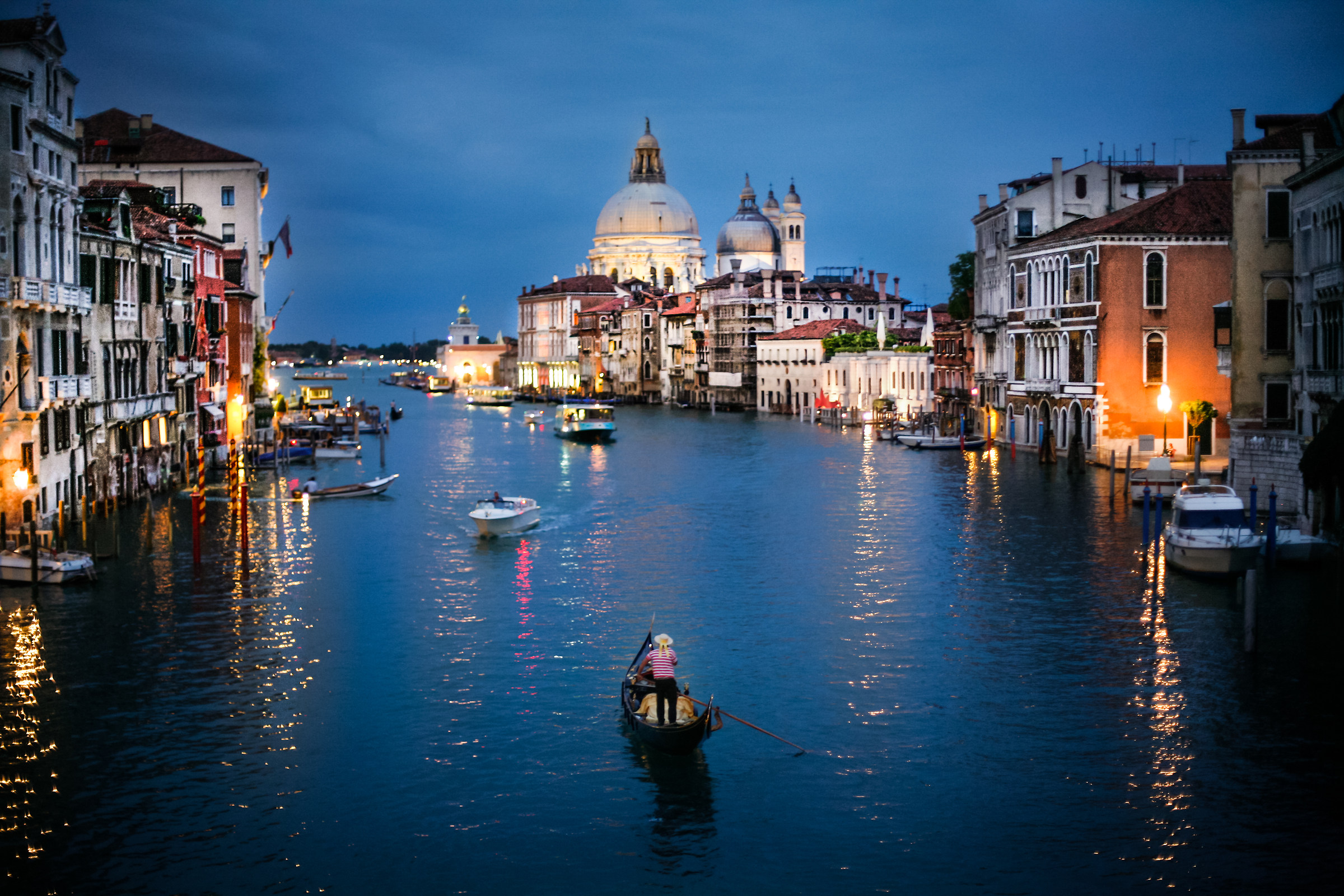Blue hour at the Grand Canal...