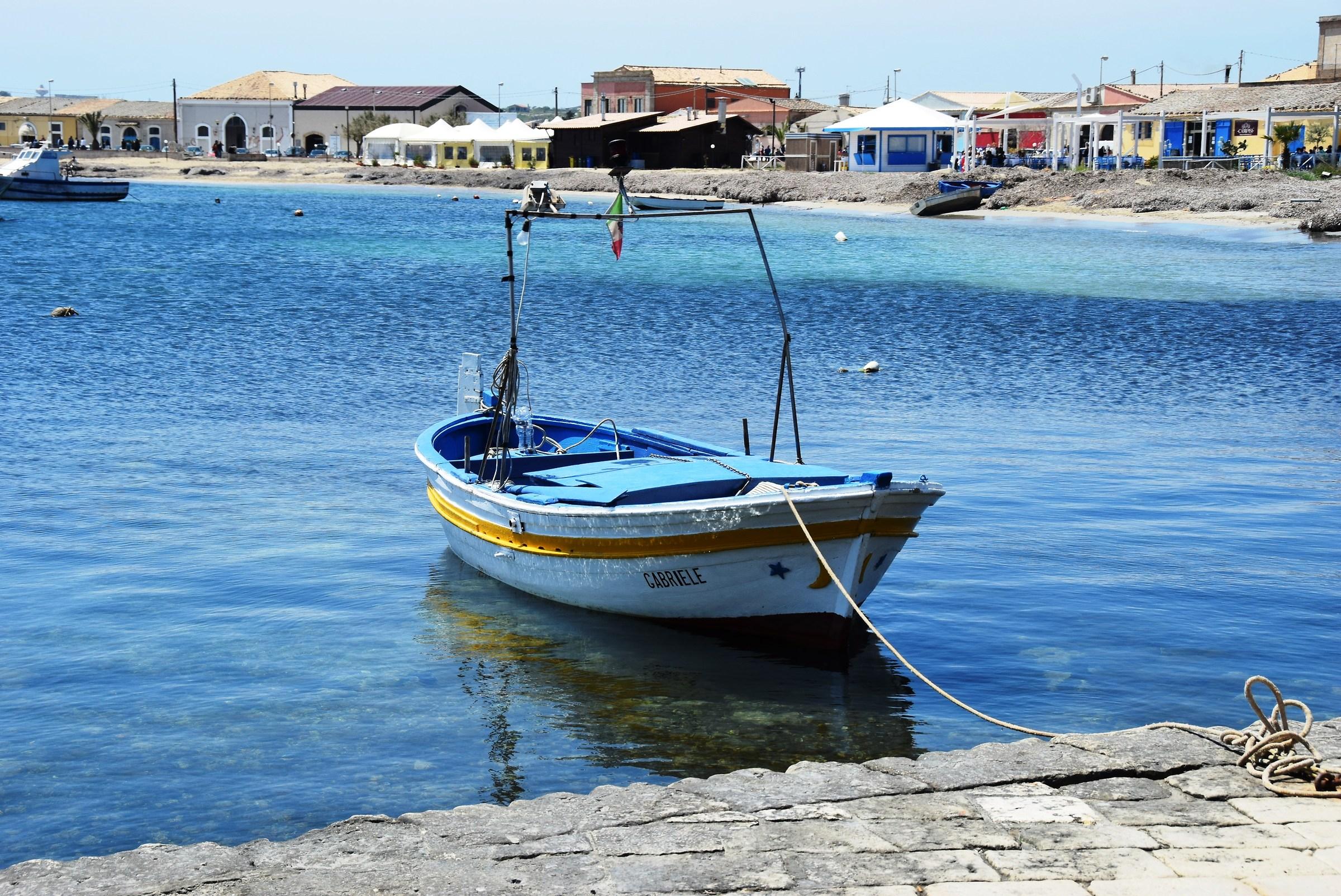 ... boat harbor of Marzamemi (sr)...