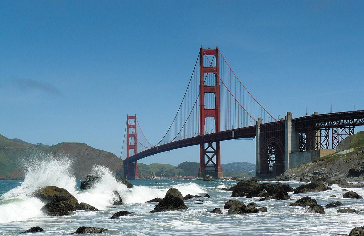 Golden Gate Bridge from Marshall Beach...