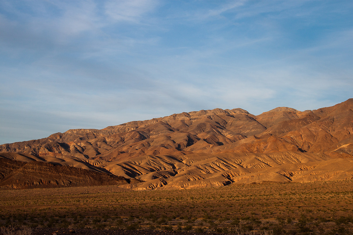 Mountains on either side of Death Valley...