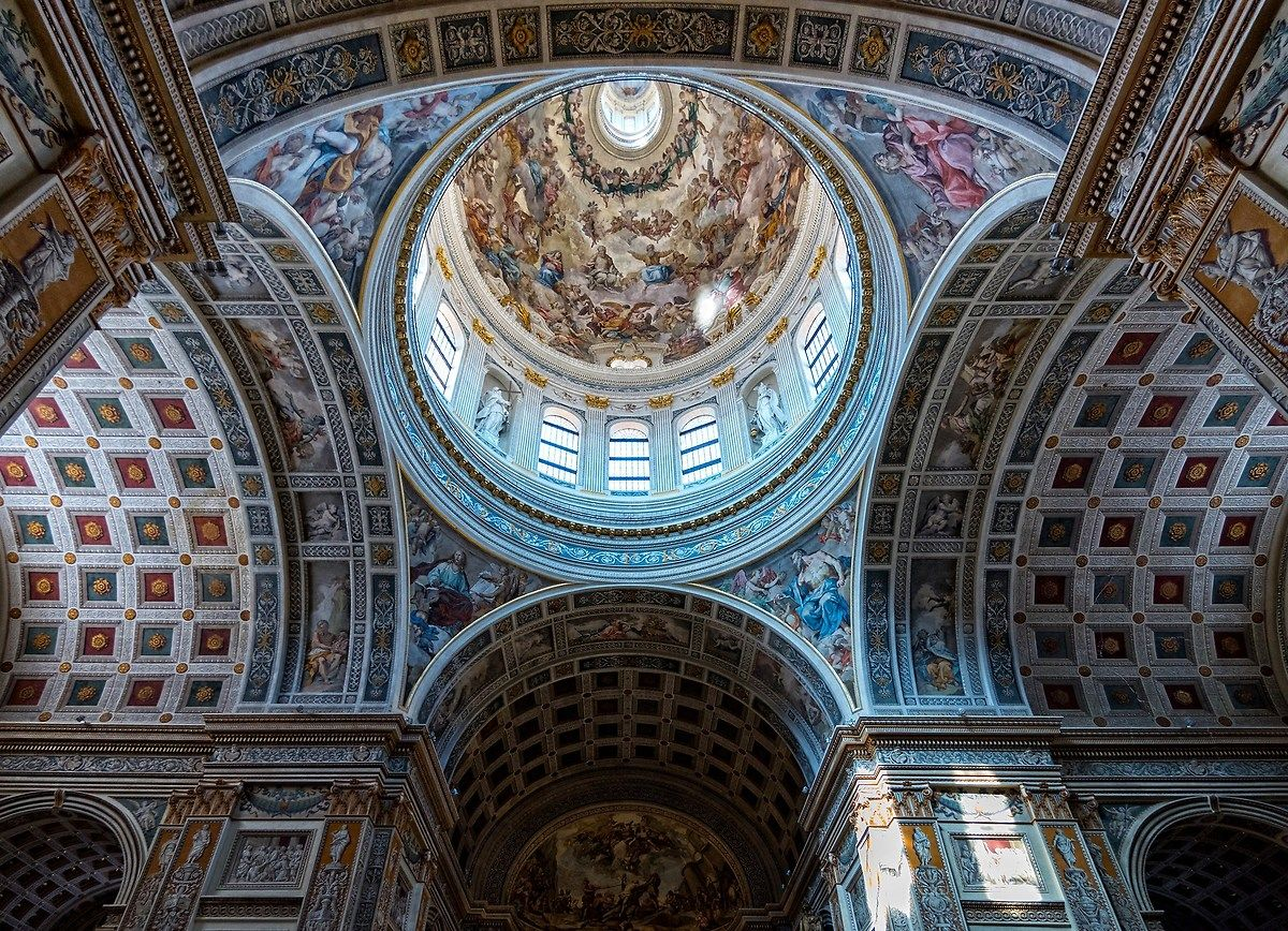 Dome of the Basilica of St. Andrew - Mantova...