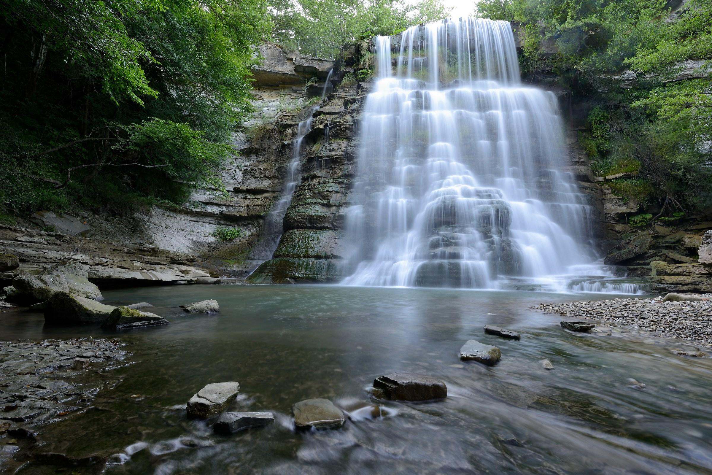 Alferello, waterfall at Alfero...