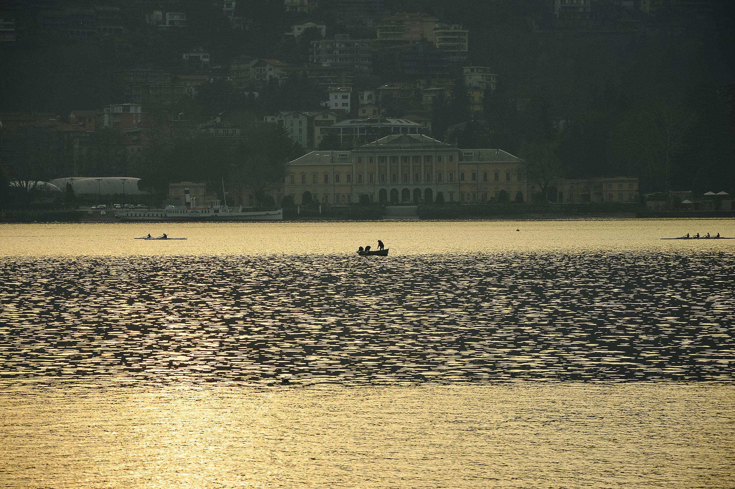 Boats at sunset...