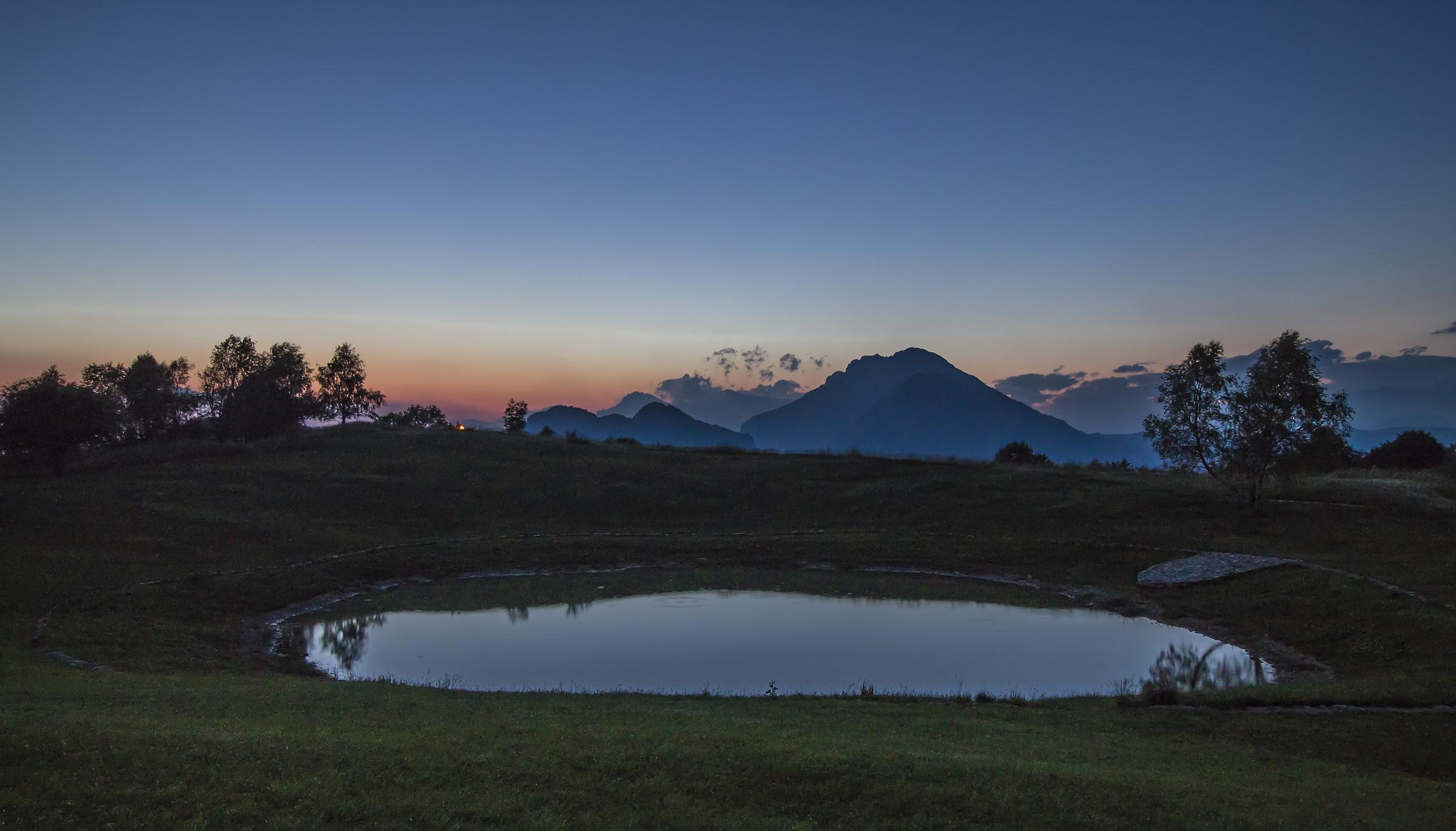 Lago Pertus al tramonto...