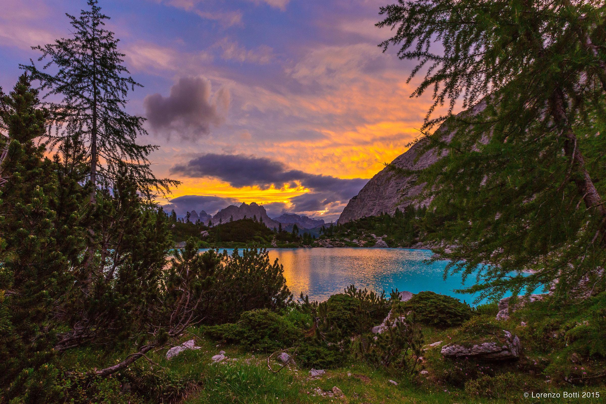 un nuovo giorno al lago Sorapis...